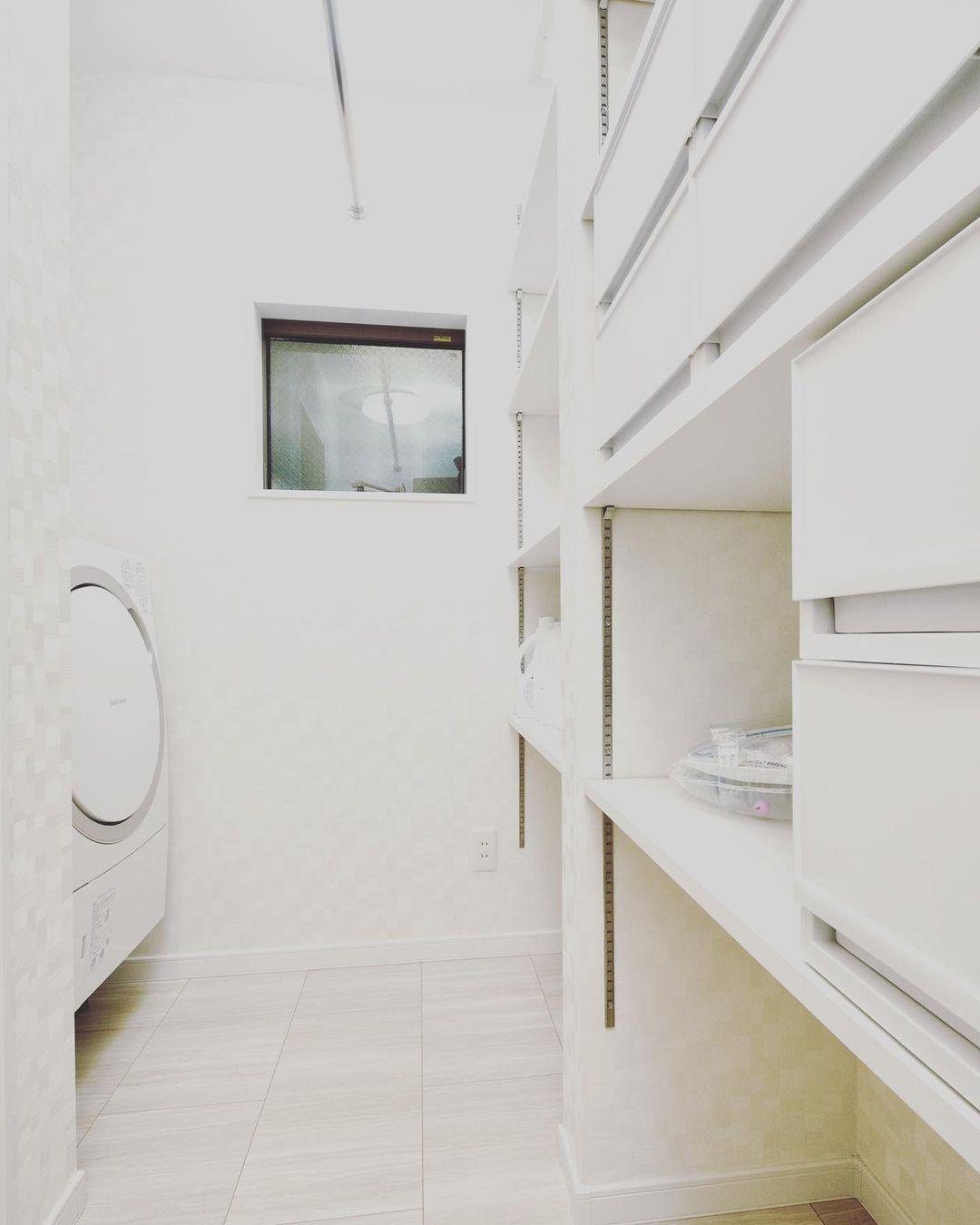 洗う、干す、たたむ、しまうが1部屋でできるランドリールームの間取り